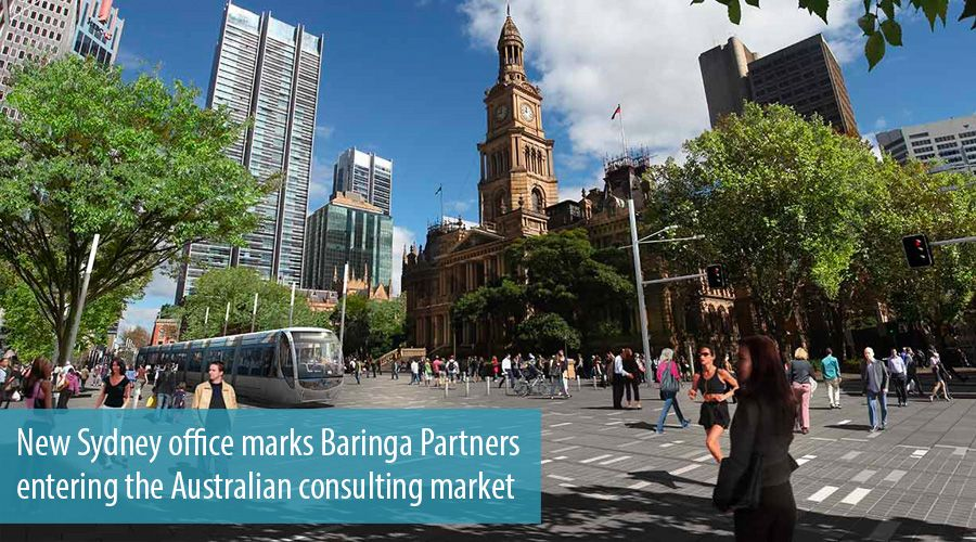New Sydney office marks Baringa Partners entering the Australian consulting market
