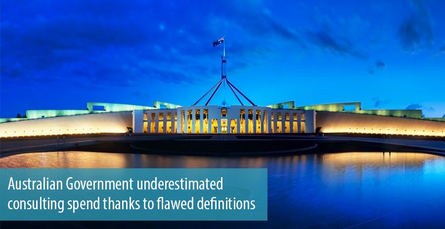 Australian Government underestimated consulting spend thanks to flawed definitions
