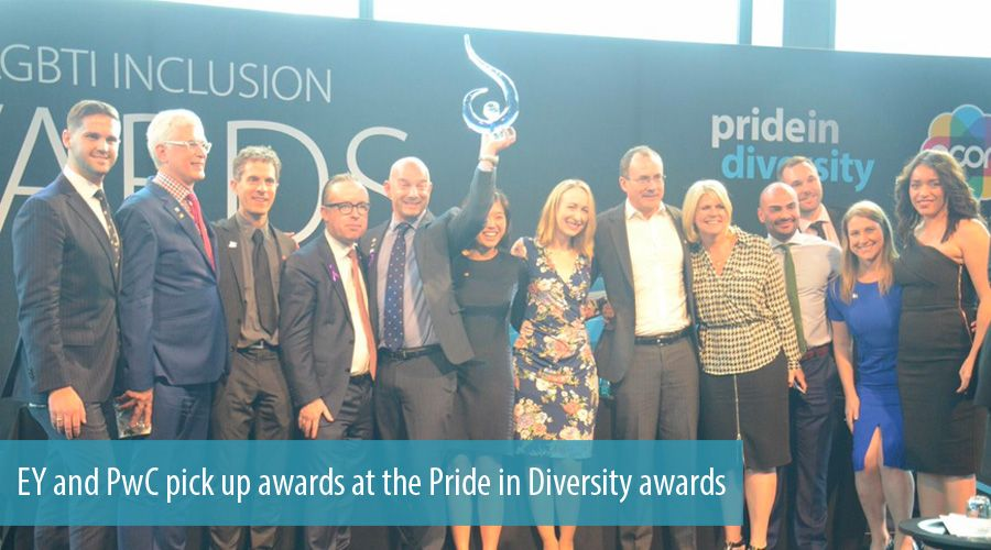 EY and PwC pick up awards at the Pride in Diversity awards