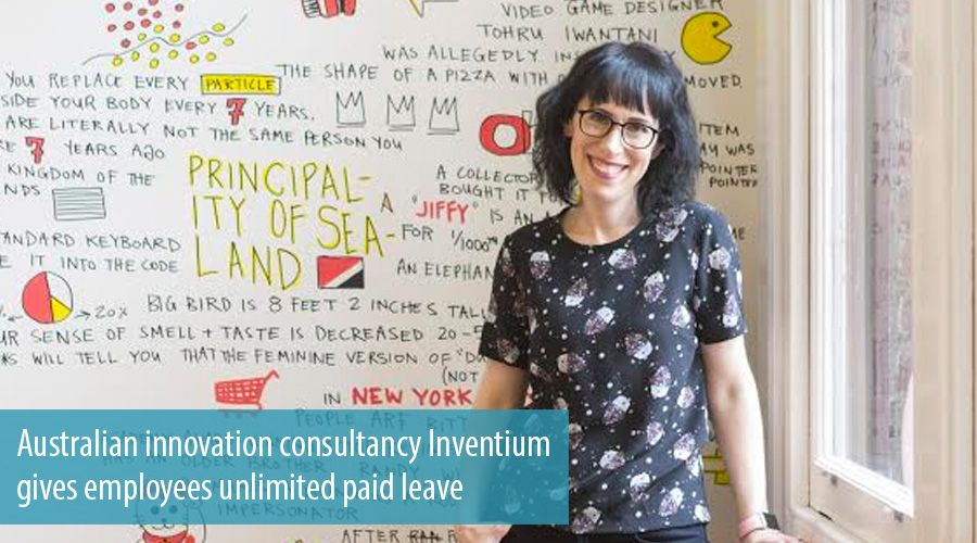 Australian innovation consultancy Inventium gives employees unlimited paid leave