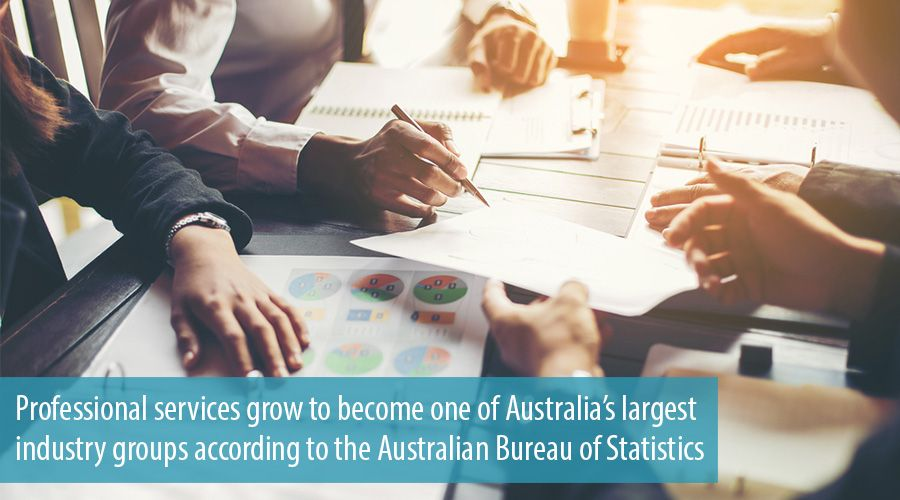 Professional services grow to become one of Australia's largest industry groups