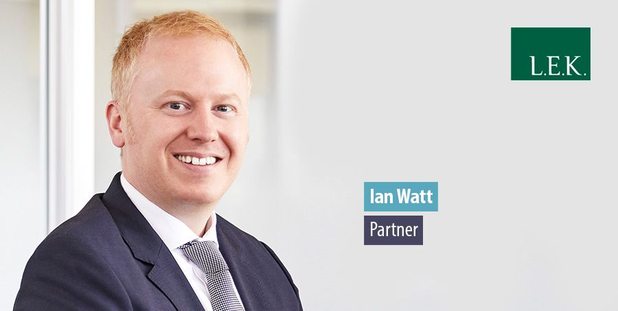 Ian Watt leads Energy & Environment arm of L.E.K Consulting