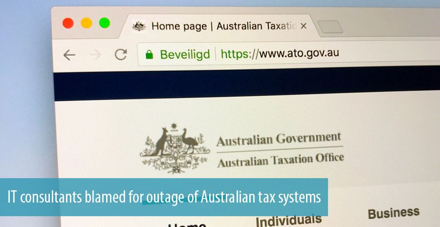 IT consultants blamed for outage of Australian tax systems