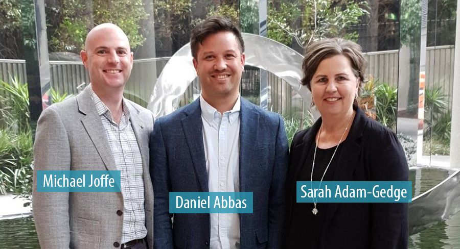 Michael Joffe, Daniel Abbas and Sarah Adam-Gedge