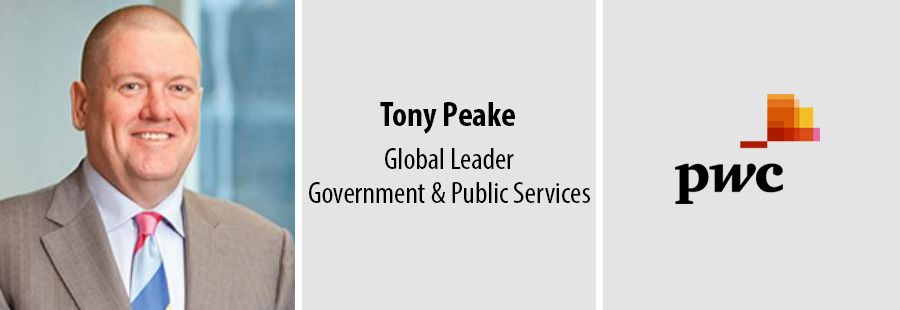 Tony Peake, Global leader of PwC's Government and Public Services practice