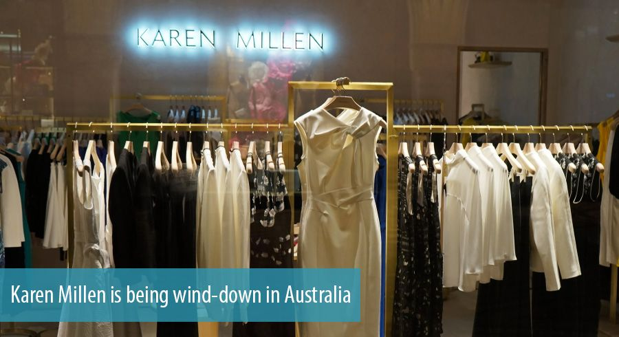 Karen Millen is being wind-down in Australia