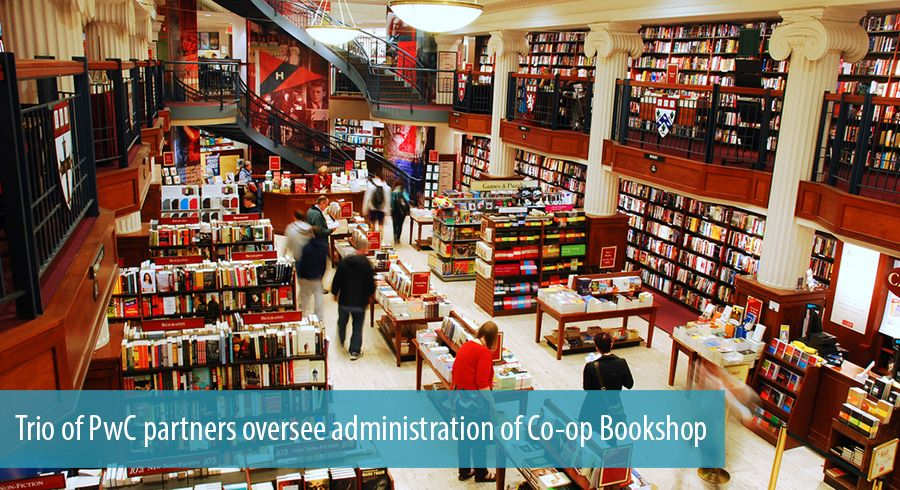 Trio of PwC partners oversee administration of Co-op Bookshop
