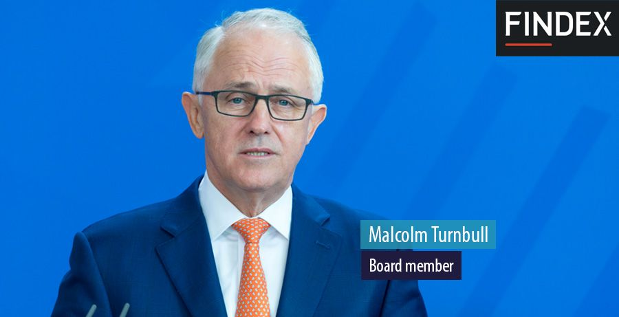 Malcolm Turnbull. Board member at Findex