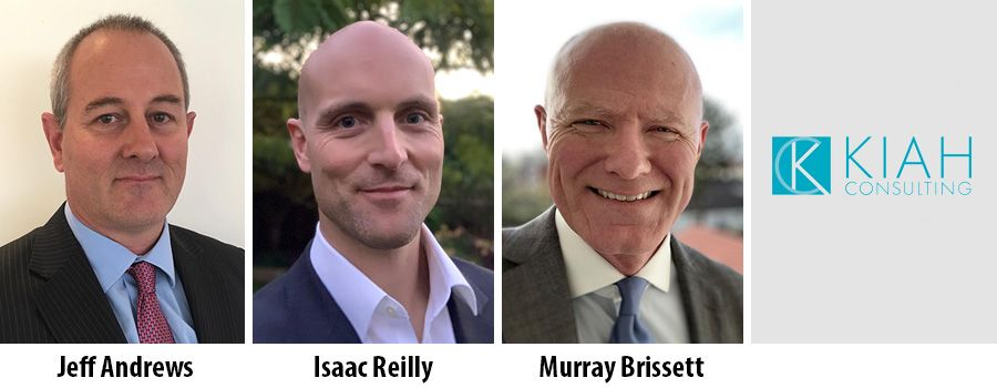 Jeff Andrews, Isaac Reilly and Murray Brissett, Kiah Consulting