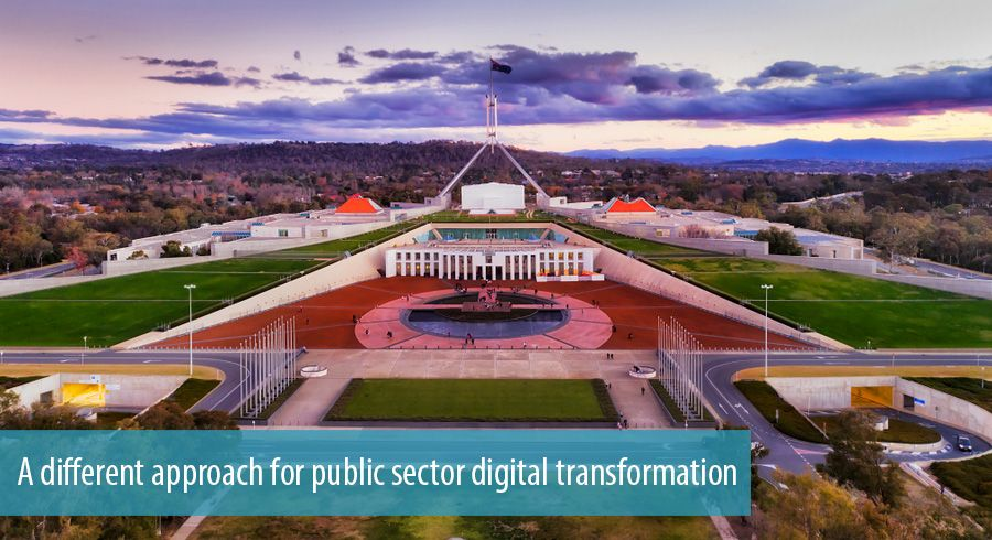 A different approach for public sector digital transformation