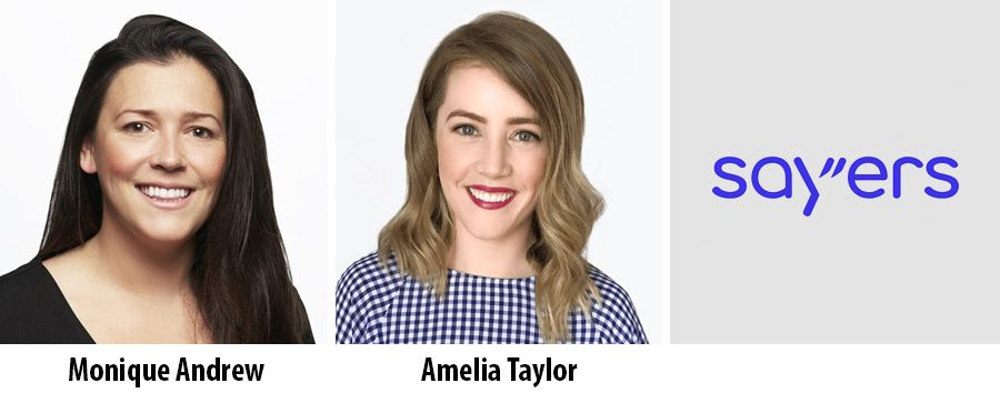 Monique Andrew and Amelia Taylor - Sayers