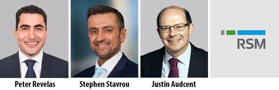 Peter Revelas, Stephen Stavrou, Justin Audcent, RSM