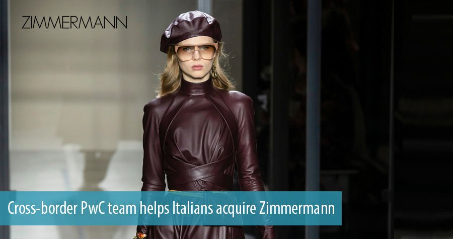 Cross-border PwC team helps Italians acquire Zimmermann
