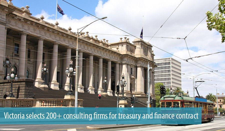 Victoria selects 200+ consulting firms for treasury and finance contract