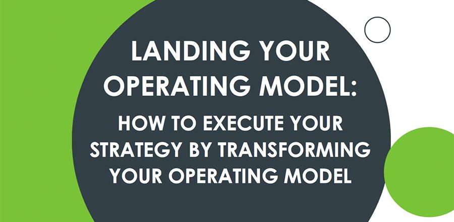 Five lessons for implementing an operating model