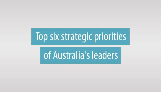 The top six strategic priorities of Australia's leaders in 2019