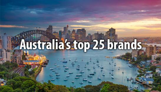 The 25 most valuable brands | companies in Australia