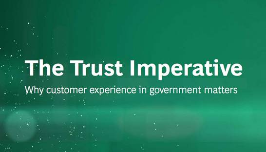 The customer experience imperative for trust in governments